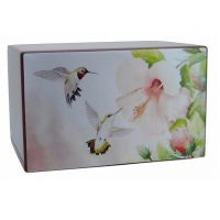 Lovely In Pink Hummingbirds Urn