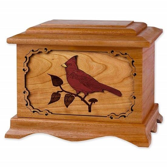 Mahogany Cardinal Urn