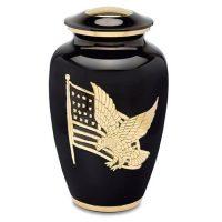 Golden Pride Black Eagle Flag Urn