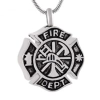 Firefighter Pendant for Ashes