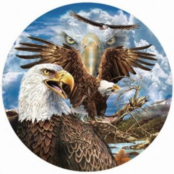 military urns eagles