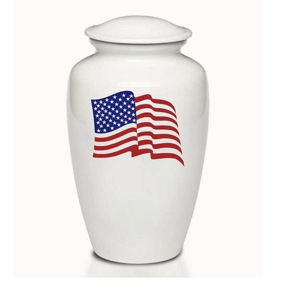 Home of the Brave American Flag Urn