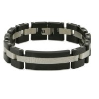 Cable Link Black Cremation Bracelet