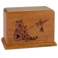 Mahogany Newport Hummingbird Urn