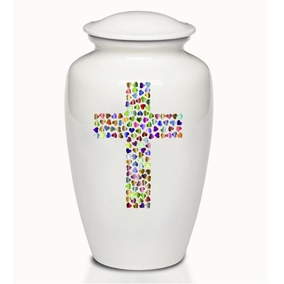 Hearts of Love Cross Urn