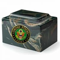Army Camouflage Marble Urn