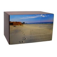 Footprints in the Sand Beach Urn