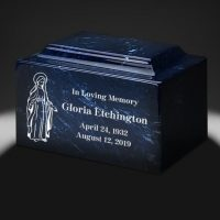 Madonna Blue Marble Urn