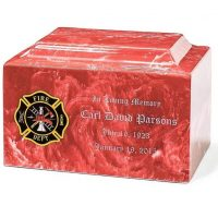 Firefighter Cultured Marble Urn