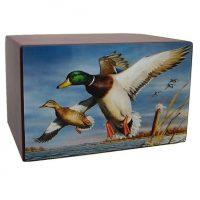 Marshland Ducks Cremation Urn