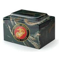 Marine Corps Camouflage Marble Urn