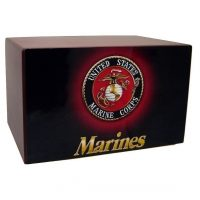 Marine Corps Traditional Wood Urn