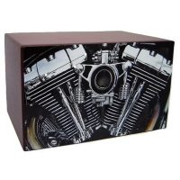 V Twin Motorcycle Urn