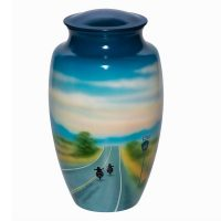 Riding Down the Road Motorcycle Urn