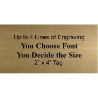 Brass Engraving Plate 2″ x 4″