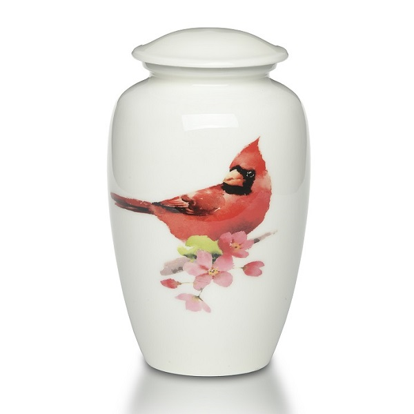 Red Cardinal Cremation Urn for Ashes