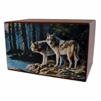 Wolves in Paradise Urn