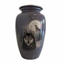 Full Moon Wolf Urn