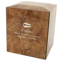 Burl Wedding Rings Urn for Two