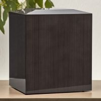Platinum Wood Urn for Two