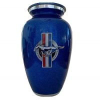 Metallic Pearl Blue Ford Mustang Urn