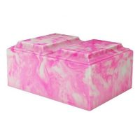 Pink Swirls Marble Urn for Two