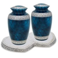 Blue Urns for Two Set