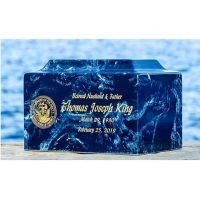 Blue Marble Navy Urn
